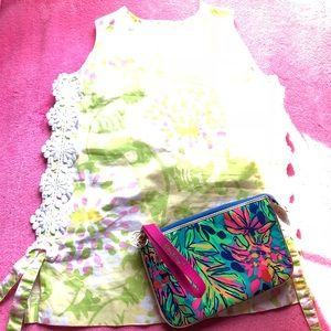 Lilly Pulitzer Green Yellow Floral JUBILEE Top💚